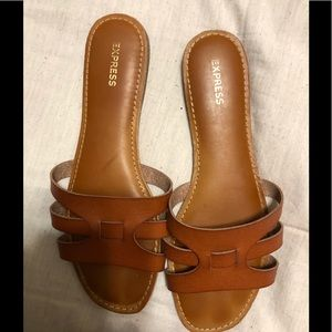 Express flats brown like new 8.5